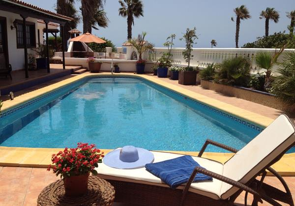 Stunning swimming pool at Casa Vinatigo Tenerife